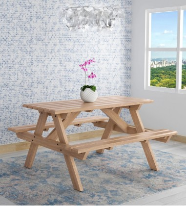Buy 4 Seater Dining table with glass top Online