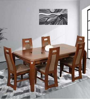 Buy 6 seater dining table with Chairs Online