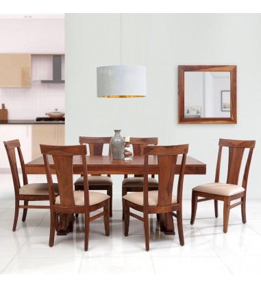 Buy dining table designs with 6 seater Online