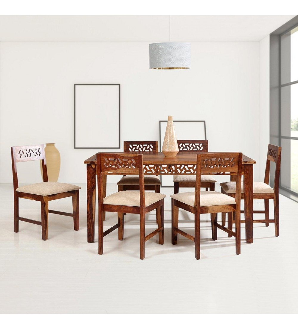 Buy Custom Houzz Cyrus Solidwood Dining Set 9+9 In Honey Color ...
