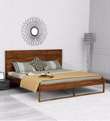 Buy solid wood king size bed with hydraulic storage Online