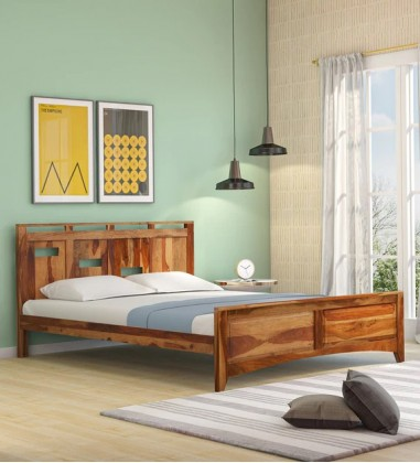 Solid Wood Double queen size bed in Jaipur India