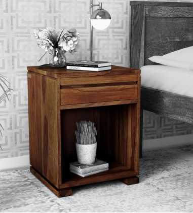 Buy Custom Houzz Solid Wood Night Stand in Provincial Teak Finish Online