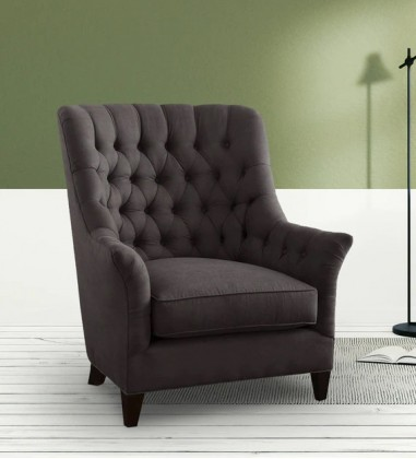 Custom Houzz Abellone Lounge Chair in Brownish Grey Colour