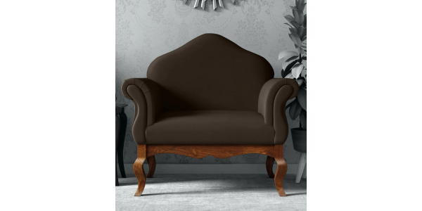 Buy wooden One seater sofa designs online