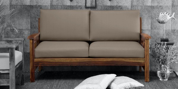 seater 2 wooden sofa online