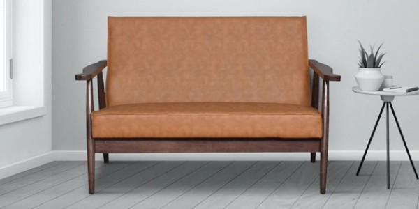 buy wooden 2 seater couch for living room